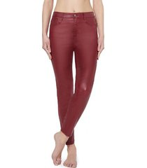 calzedonia faux leather skinny leggings woman red size l