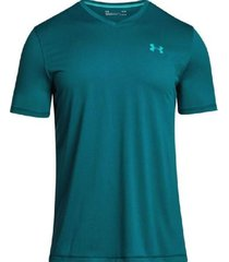 camiseta manga corta hombre under armour tech v-neck-verde