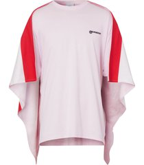 burberry striped cape oversized t-shirt - pink