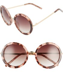 women's bp. 50mm gradient round sunglasses - pink