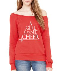 game of thrones a girl has no name cheer funny christmas slouchy sweatshirt