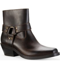 sun + stone pheobie leather booties, created for macy's women's shoes