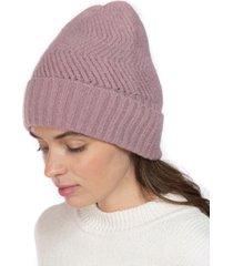 inc chevron-knit beanie, created for macy's