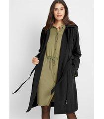 softshell jas in trenchcoat stijl