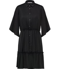 wijde midi jurk sarian  zwart