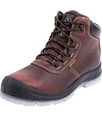 botin skechers hammer high brown skechers work
