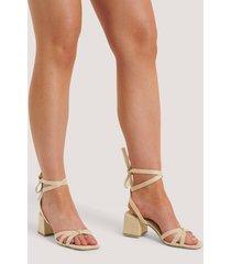 na-kd shoes högklackade sandaler - beige