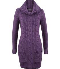 abito in maglia a collo alto (viola) - bpc bonprix collection