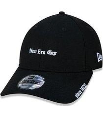 boné new era 940 black squad cap aba curva - masculino
