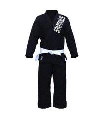 kimono masculino jiu jitsu black spartanus