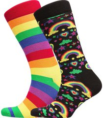 pride gift box underwear socks regular socks multi/mönstrad happy socks