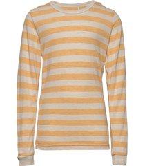 blouse ls t-shirts long-sleeved t-shirts beige celavi