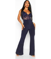 lace 2 in 1 jumpsuit, navy
