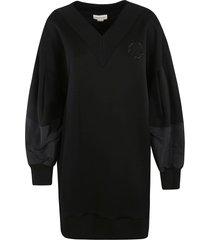 alexander mcqueen long bell sleeved sweatshirt
