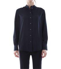 calvin klein k20k200860 placket shirt shirt women blue