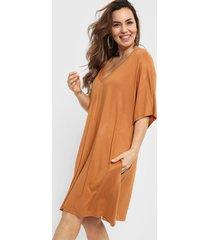 vestido marrón vindaloo redondo y v