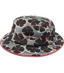 10 corso como floral-jacquard hat - black