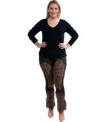 buyseasons women's cute furry leggings
