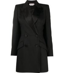alexander mcqueen double-breasted tailored cape coat - black