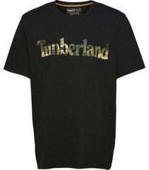 ss ft linear tee t-shirts short-sleeved svart timberland