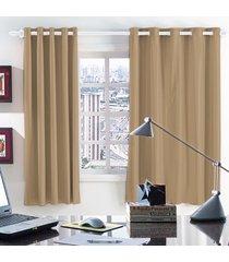 cortina 2 metros blackout nude corta luz com 1 peças - valle enxovais