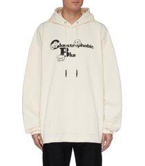 monster print hoodie