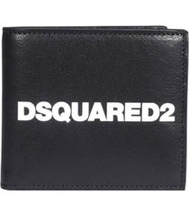 dsquared2 black wallet with white logo