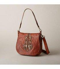 sundance catalog women's bella di notte shoulder bag in cognac