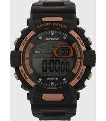 reloj negro-cobre virox