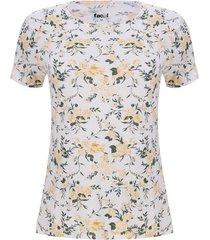 camiseta mujer floral color amarillo, talla s