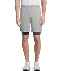 spyder men's double-layer shorts - grey - size s