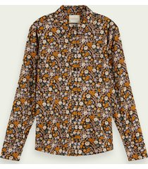 scotch & soda slim fit blouse van een katoenmix