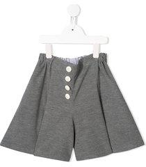 familiar jersey wide leg shorts - grey