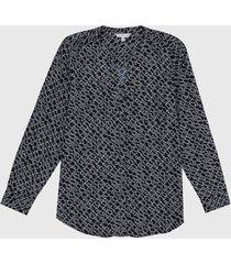 blusa azul-blanco tommy hilfiger