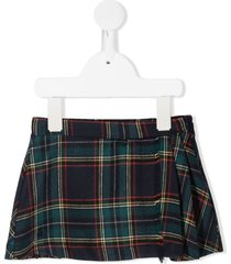 le bebé enfant plaid flared skirt - blue