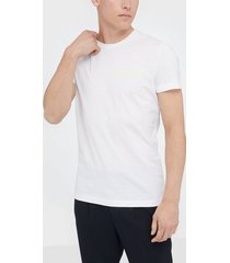 calvin klein jeans chest institutional slim tee t-shirts & linnen vit