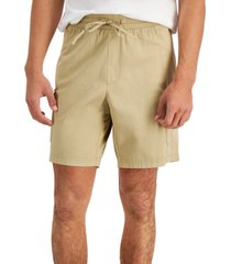 """inc international concepts men's regular-fit stretch 8"""" utility shorts, created for macy's"""