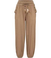 pantaloni con elastico in vita (marrone) - rainbow
