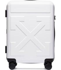off-white tonal arrow print suitcase