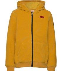 cozy zip up hoodie trui geel levi's