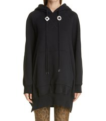 women's r13 oversize hoodie cape, size x-small/small - black