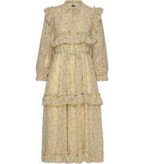 barbara jurk knielengte geel stella nova