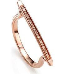 rose gold skinny stacking ring champagne diamond