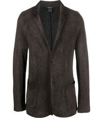 avant toi patterned relaxed blazer - brown