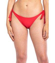 bikini calzón tanga con amarras rojo samia