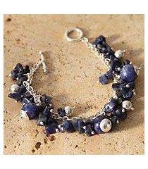 sodalite beaded bracelet, 'indigo spirit' (peru)