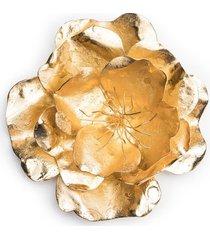 gold platedss medium peony brooch, women's, josie natori