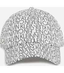calvin klein hat with all-over logo print