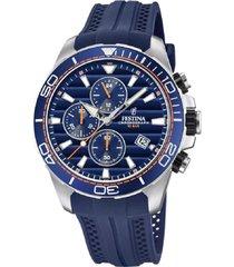 reloj azul acero festina
