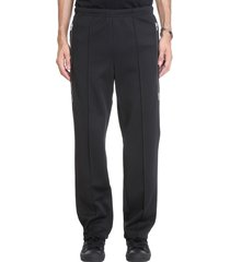 maison margiela pants in black polyamide